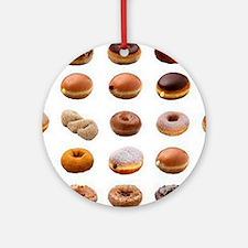Doughnuts Round Ornament