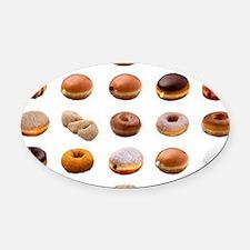 Doughnuts Oval Car Magnet