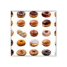 """Doughnuts Square Sticker 3"""" x 3"""""""