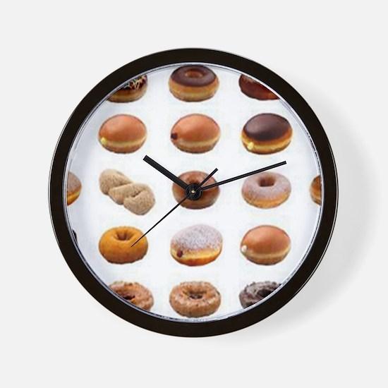 Doughnuts Wall Clock
