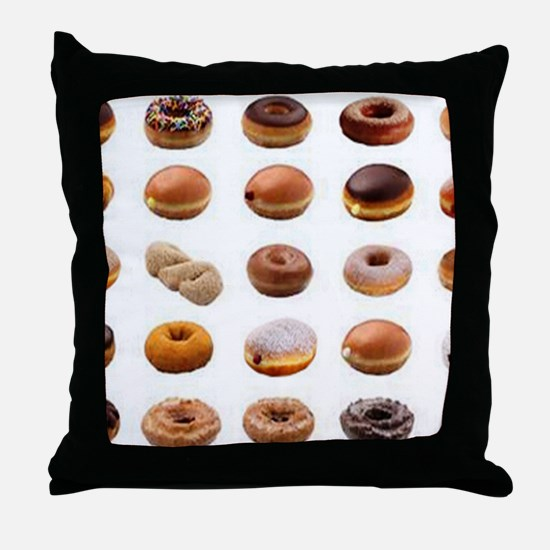 Doughnuts Throw Pillow