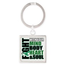 Fight copy Square Keychain