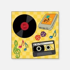 "Retro Music Collection Square Sticker 3"" x 3"""