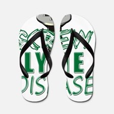 Screw Lyme Disease copy Flip Flops
