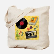 Retro Music Collection Tote Bag