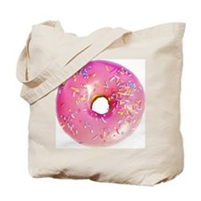 pink frosted donut Tote Bag