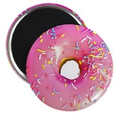 pink frosted donut Magnet