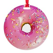 pink frosted donut Ornament