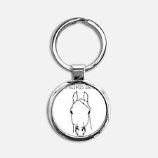 Equus Keepus Brokus Round Keychain