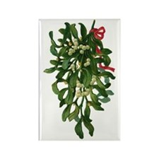 mistletoe Rectangle Magnet