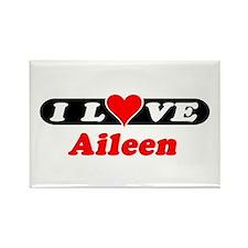 I Love Aileen Rectangle Magnet