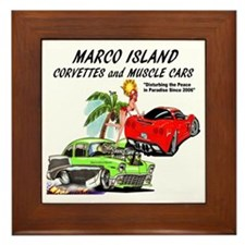 marco island muscle cars Framed Tile