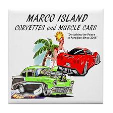 marco island muscle cars Tile Coaster