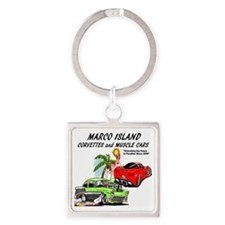 marco island muscle cars Square Keychain
