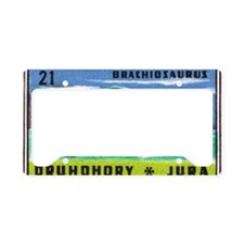 Brachiosaurus Dinosaur Czech  License Plate Holder