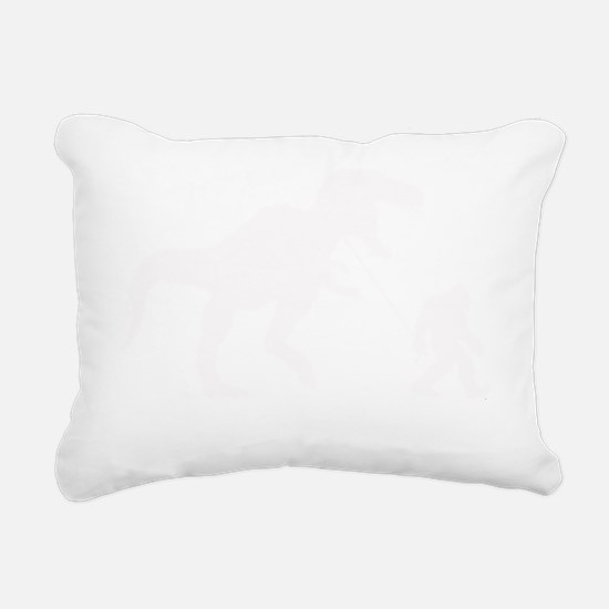Gone Squatchin with T-re Rectangular Canvas Pillow