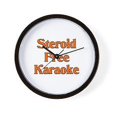 Steroid Free Karaoke Wall Clock