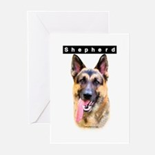 GSD Head Greeting Cards (Pk of 10)