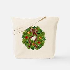 xmas wreath Tote Bag