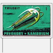 Trilobite Vintage Czechoslovakia Matchbo Yard Sign