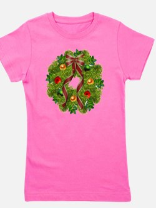 xmas wreath Girl's Tee