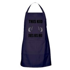 This Kid Loves His Mom Apron (dark)