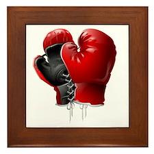 boxing gloves Framed Tile