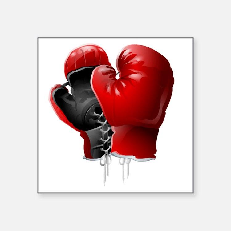 "boxing gloves Square Sticker 3"" x 3"""