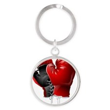 boxing gloves Round Keychain