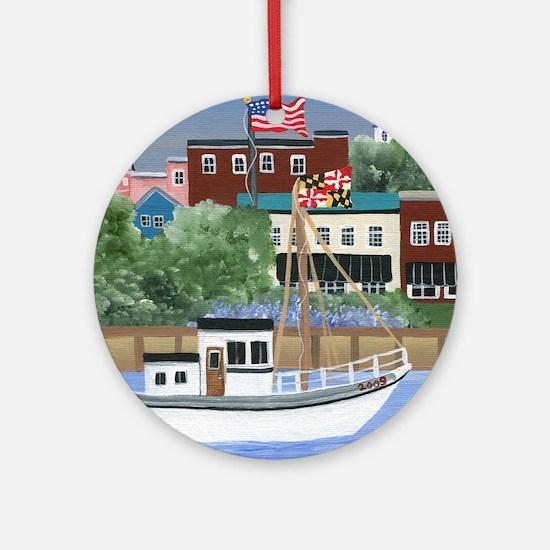Annapolis View Round Ornament