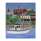 Annapolis harbor Fleece Blankets