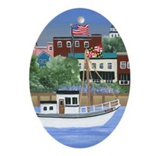 Annapolis View Oval Ornament
