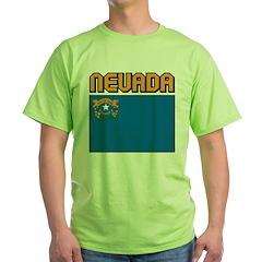 Nevada Flag Green T-Shirt