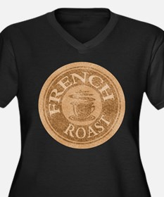 French Roast Coffee Logo Women's Plus Size V-Neck