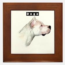 Dogo Head Framed Tile