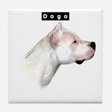 Dogo Head Tile Coaster