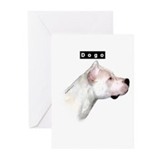 Dogo Head Greeting Cards (Pk of 10)