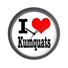 I Heart (Love) Kumquats Wall Clock