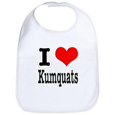 I Heart (Love) Kumquats Bib