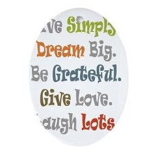 Live Simply. Oval Ornament