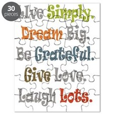 Live Simply. Puzzle