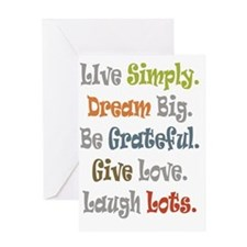 Live Simply. Greeting Card