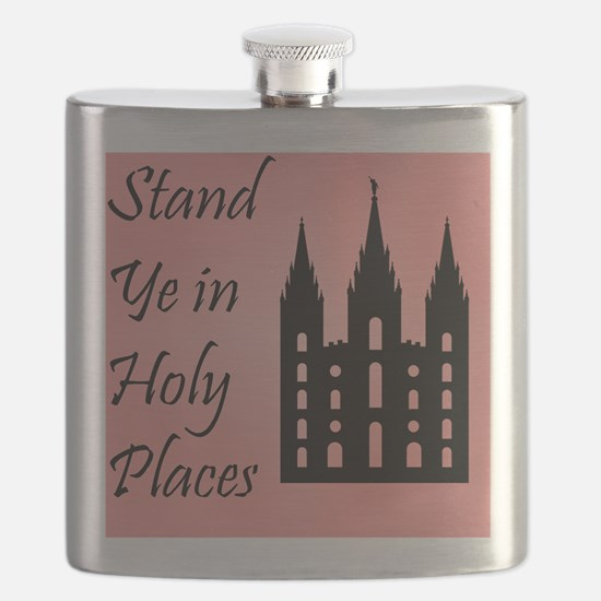 Stand Ye In Holy Places on Pink Flask