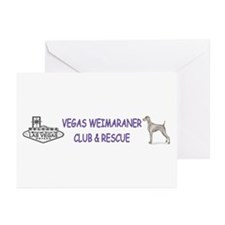 Vegas Rescue Weims Greeting Cards (Pk of 10)