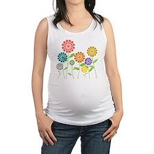 Flowers Maternity Tank Top