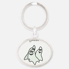 future ghost hunter Oval Keychain