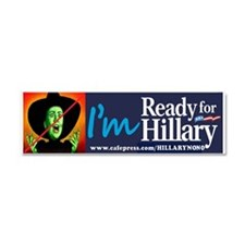 HILLARY NO NO Car Magnet 10 X 3