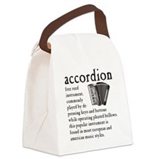 Piano Accordion Definition Canvas Lunch Bag