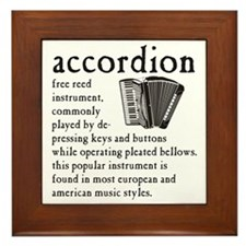 Piano Accordion Definition Framed Tile