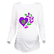 Turtle Heart Long Sleeve Maternity T-Shirt